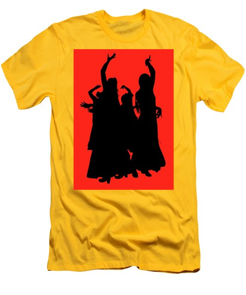 Men's T-Shirt (Slim Fit) featuring the photograph Spanish Dancers by Jeff Burgess