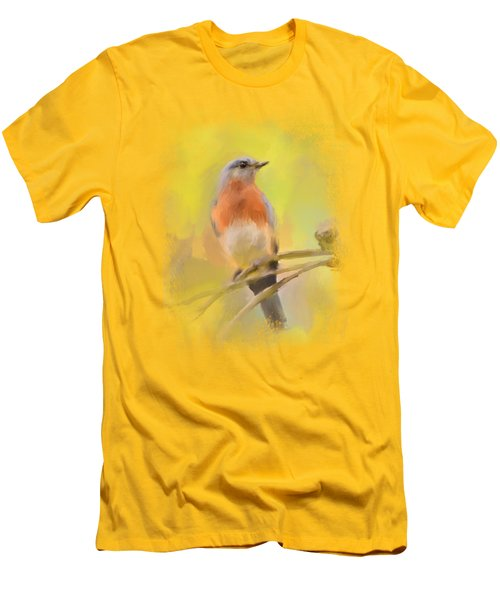 Spring Bluebird Painting Men's T-Shirt (Athletic Fit)