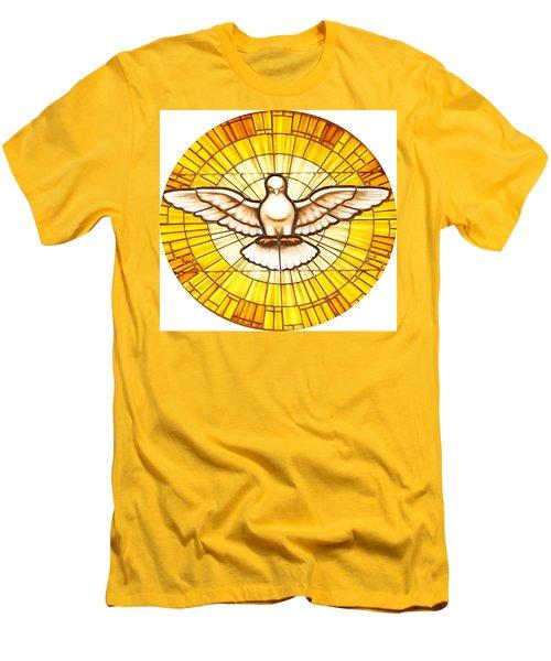 Stain Glass Dove Men's T-Shirt (Slim Fit) by Joseph Frank Baraba