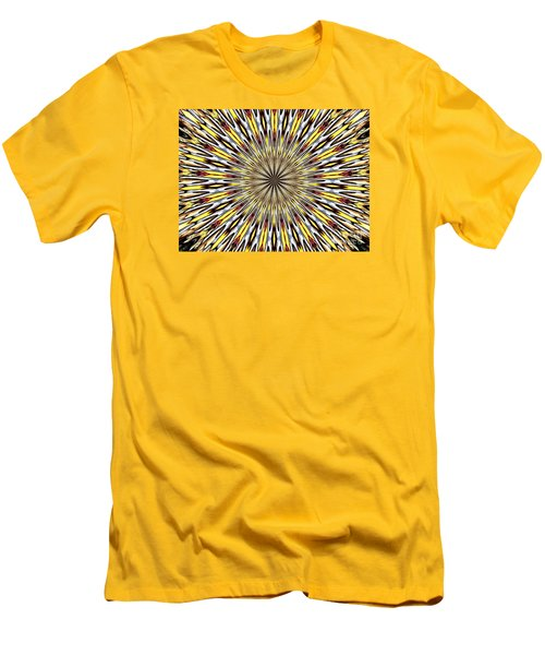 Men's T-Shirt (Slim Fit) featuring the photograph Stained Glass Kaleidoscope 22 by Rose Santuci-Sofranko