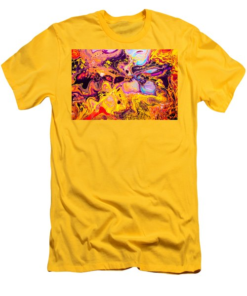Summer Play  - Abstract Colorful Mixed Media Painting Men's T-Shirt (Slim Fit) by Modern Art Prints