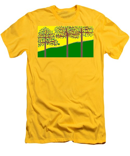Summer Stained Glass 2 Men's T-Shirt (Athletic Fit)