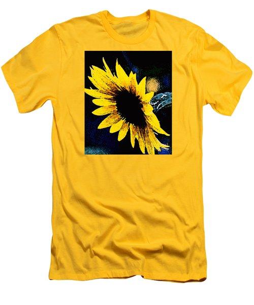 Men's T-Shirt (Slim Fit) featuring the photograph Sunflower Art  by Juls Adams