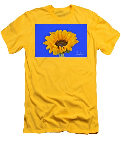 Sunflower Sunshine 406-6 Men's T-Shirt (Slim Fit) by Ray Shrewsberry