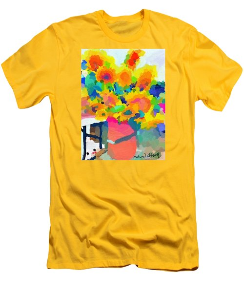 Sunflowers In A Bucket At Rockport Farmers Market Men's T-Shirt (Athletic Fit)
