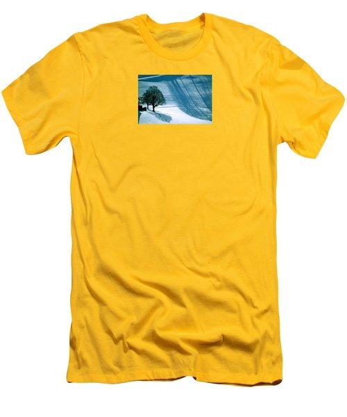 Men's T-Shirt (Slim Fit) featuring the photograph Sunshine And Shadows - Winterwonderland by Susanne Van Hulst