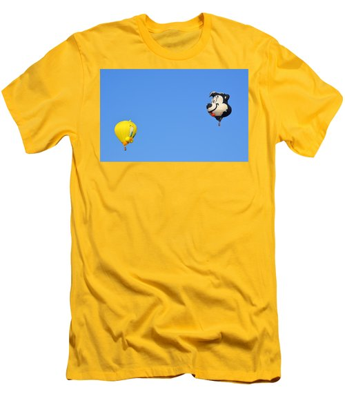 Men's T-Shirt (Athletic Fit) featuring the photograph Sylvester And Tweety by AJ Schibig
