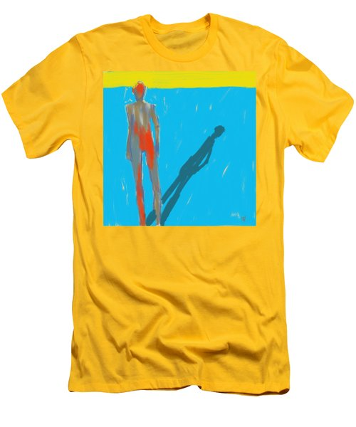 Men's T-Shirt (Slim Fit) featuring the painting The Cast Shadow by Jim Vance