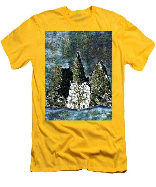 The Loneliest Tree Men's T-Shirt (Slim Fit) by Vennie Kocsis