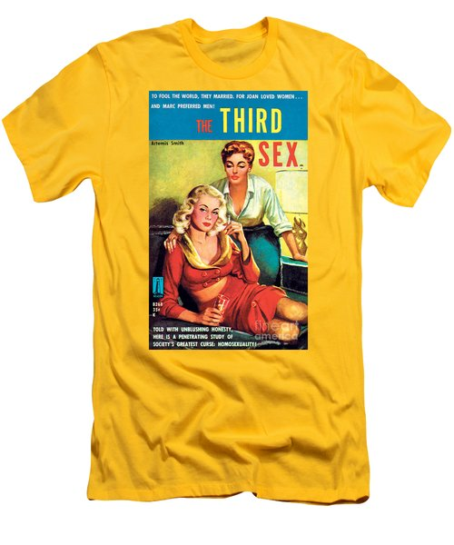 Men's T-Shirt (Slim Fit) featuring the painting The Third Sex by Robert Stanley