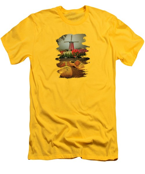 The Yellow Wooden Shoes Men's T-Shirt (Slim Fit) by Thom Zehrfeld