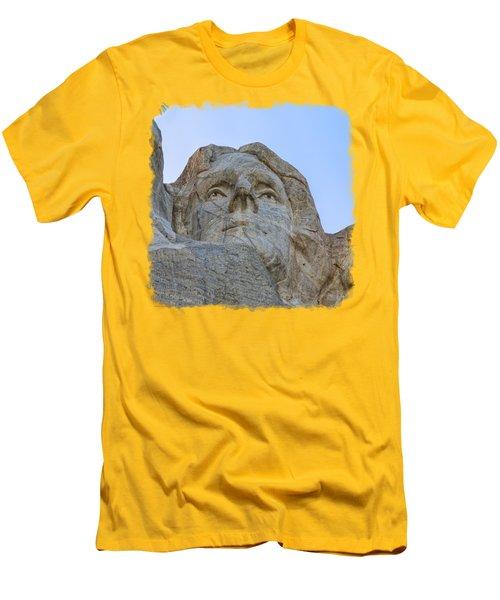 Thomas Jefferson 3 Men's T-Shirt (Slim Fit) by John M Bailey
