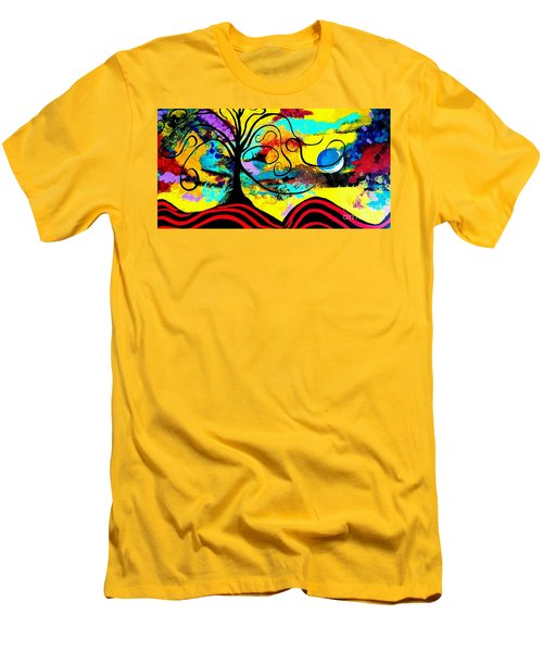 Tree Of Life Abstract Painting  Men's T-Shirt (Athletic Fit)