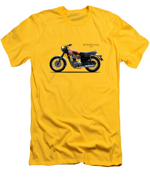 Triumph Bonneville 1969 Men's T-Shirt (Slim Fit) by Mark Rogan