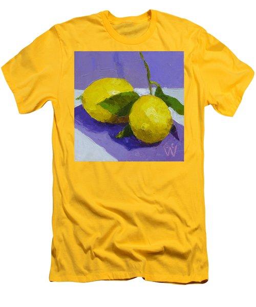Two Lemons Men's T-Shirt (Slim Fit) by Susan Woodward