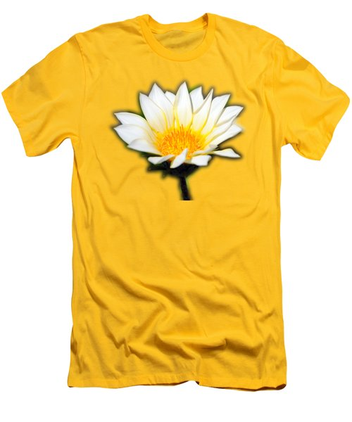White Flower T-shirt Men's T-Shirt (Slim Fit) by Isam Awad