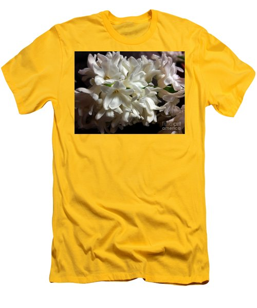 White Hyacinth Men's T-Shirt (Slim Fit) by Jasna Dragun