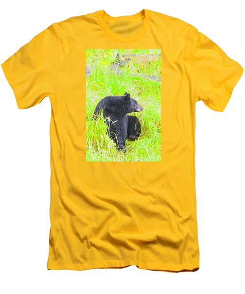 Who's There Men's T-Shirt (Slim Fit) by Harold Piskiel