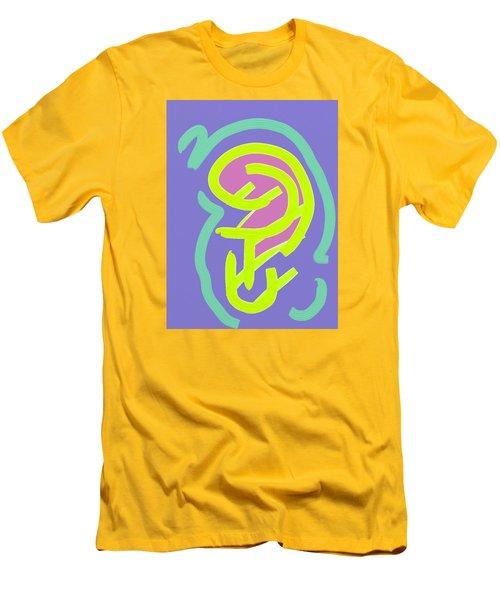 Men's T-Shirt (Slim Fit) featuring the digital art Womb Baby Alive by Carolina Liechtenstein