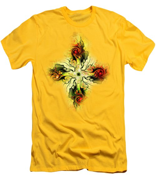 Yellow Cross Men's T-Shirt (Athletic Fit)