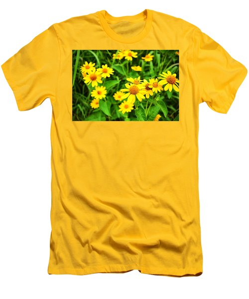 Yellow Flowers No. 2 Men's T-Shirt (Athletic Fit)