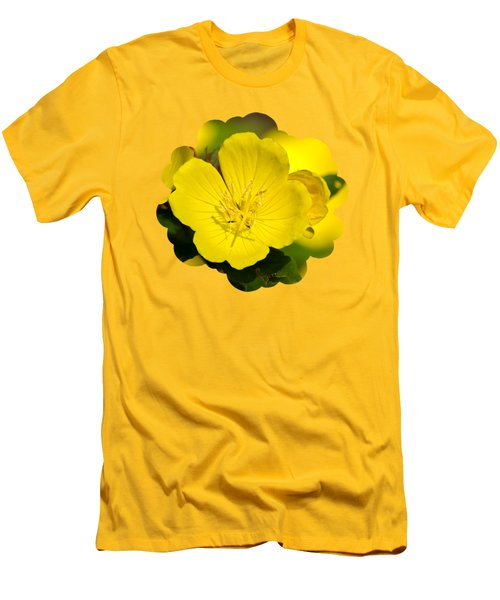 Yellow Flowers - Evening Primrose Men's T-Shirt (Slim Fit) by Christina Rollo