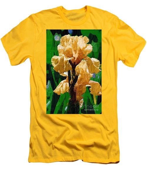 Yellow Iris Men's T-Shirt (Slim Fit) by Diane E Berry