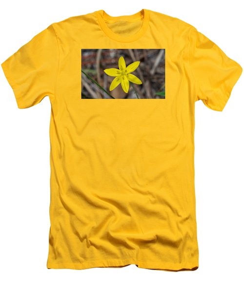 Yellow Star Grass Flower Men's T-Shirt (Athletic Fit)