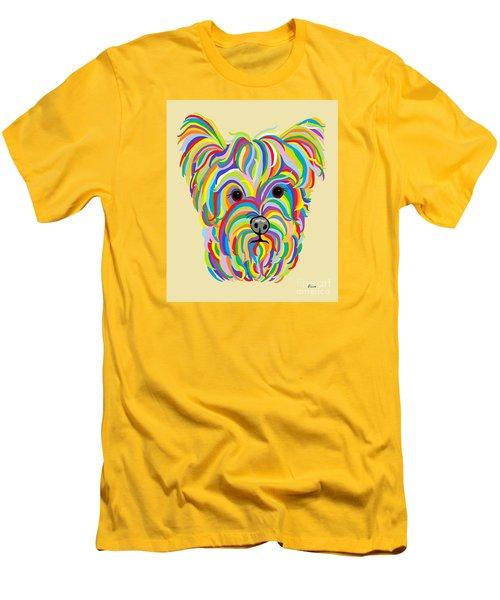 Yorkshire Terrier ... Yorkie Men's T-Shirt (Slim Fit) by Eloise Schneider