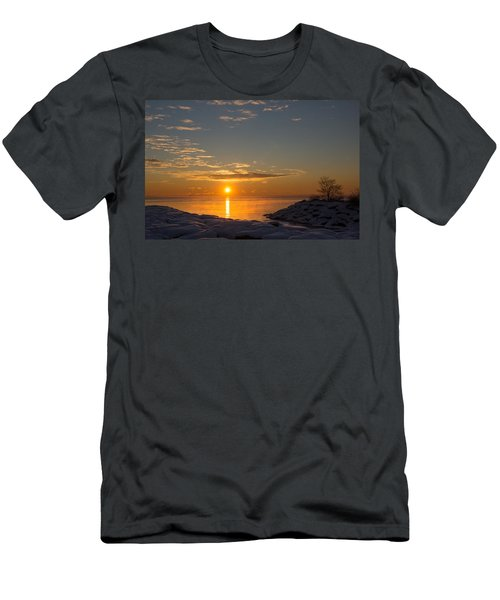 Men's T-Shirt (Slim Fit) featuring the photograph -15 Degrees Sunrise by Georgia Mizuleva