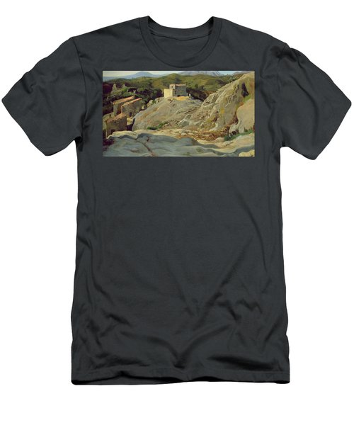 A Village In The Mountains Men's T-Shirt (Athletic Fit)
