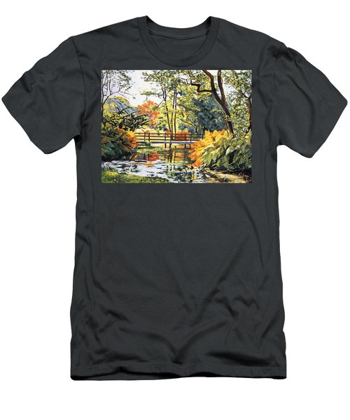 Autumn Water Bridge Men's T-Shirt (Athletic Fit)
