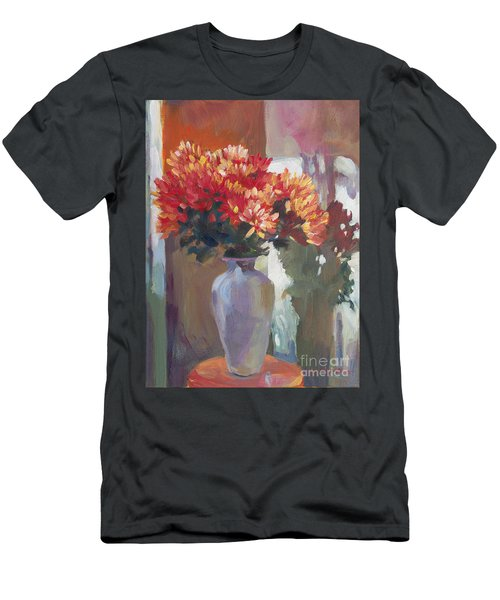 Chrysanthemums In Vase Men's T-Shirt (Athletic Fit)