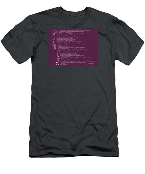 Desiderata 5 Men's T-Shirt (Slim Fit) by Wendy Wilton