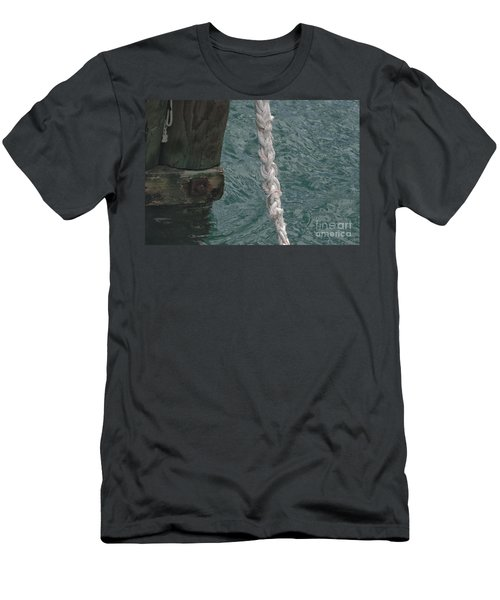 Dock Rope And Wood Men's T-Shirt (Athletic Fit)
