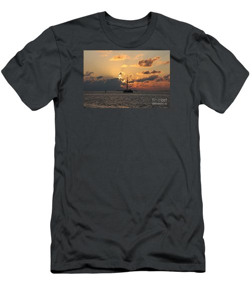Men's T-Shirt (Slim Fit) featuring the photograph Marelous Key West Sunset by Christiane Schulze Art And Photography