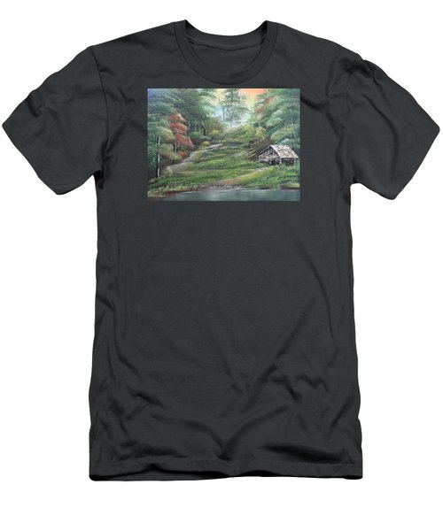 Light Down The River Men's T-Shirt (Slim Fit) by Remegio Onia