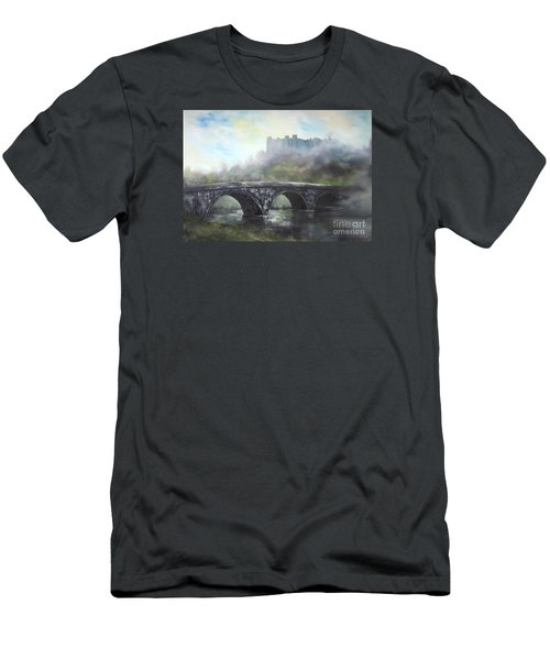 Men's T-Shirt (Slim Fit) featuring the painting  Ludlow Castle In A Mist by Jean Walker