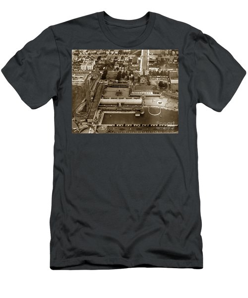 Neptune Beach Olympic Size Swimming Pool And A Roller Coaster Alameda Circa 1920 Men's T-Shirt (Athletic Fit)