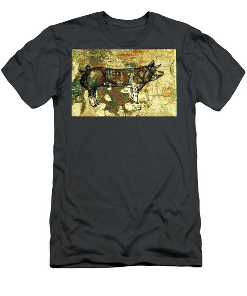 Men's T-Shirt (Slim Fit) featuring the photograph  German Pietrain Boar 27 by Larry Campbell