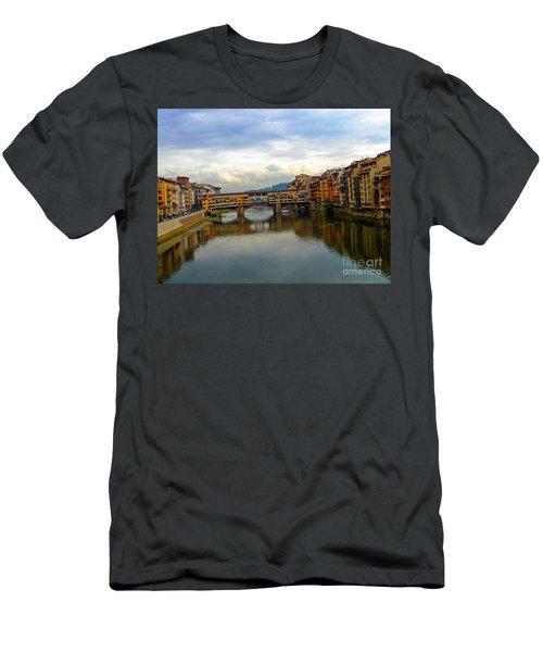 Ponte Vecchio's Padlocks Men's T-Shirt (Athletic Fit)