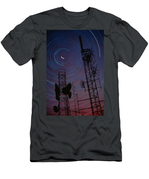 Radio Towers And Star Trails Men's T-Shirt (Athletic Fit)