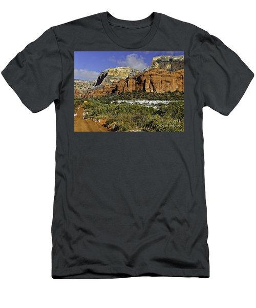Red Rock-secret Mountain Wilderness Men's T-Shirt (Athletic Fit)