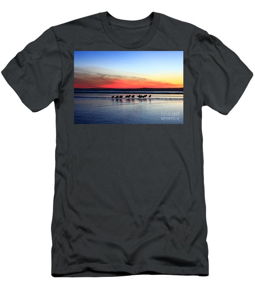 Shorebird Sunset Men's T-Shirt (Athletic Fit)