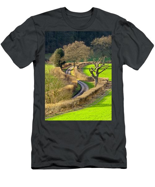 Winding Country Lane Men's T-Shirt (Athletic Fit)