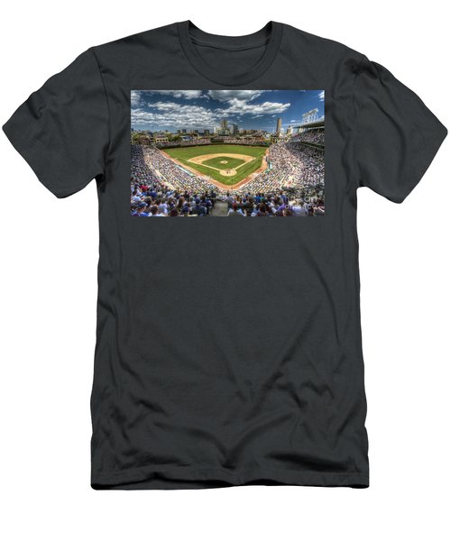 0234 Wrigley Field Men's T-Shirt (Slim Fit) by Steve Sturgill