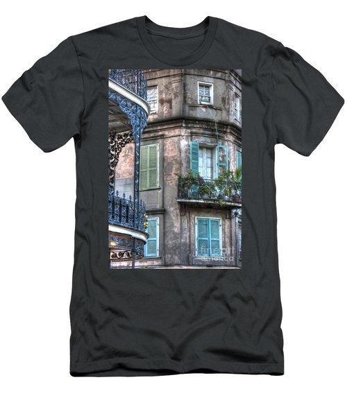 0254 French Quarter 10 - New Orleans Men's T-Shirt (Slim Fit) by Steve Sturgill