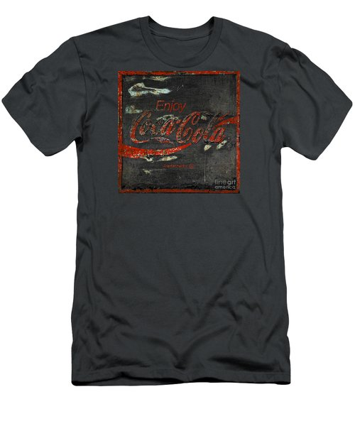 Coca Cola Sign Grungy  Men's T-Shirt (Slim Fit) by John Stephens