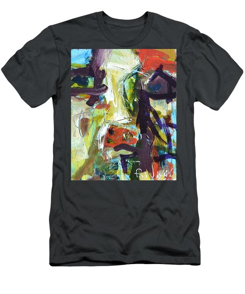 Abstract Cow Men's T-Shirt (Athletic Fit)