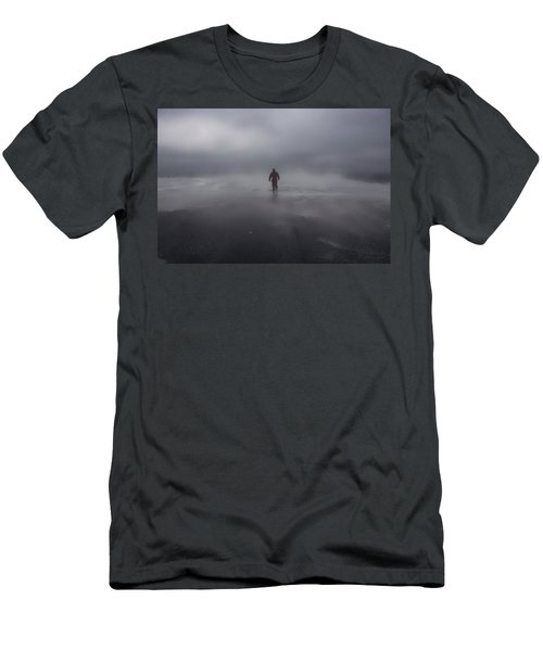 Alone On A Stormy Flight Deck Men's T-Shirt (Athletic Fit)